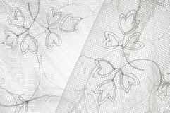 Lace background. Black ann white delicate lace background Stock Images