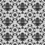 Lace background, black ornamental Stock Photos