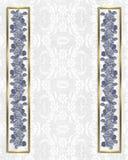 Wedding invitation hydrangea border Stock Image