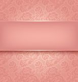 Lace background, pink royalty free illustration