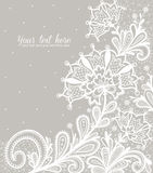 Lace background with a place for text. Royalty Free Stock Image