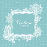 Lace background with a place for text. stock illustration