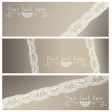 Lace background. With space for writing stock illustration