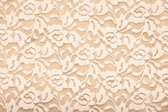 Lace background. Vintage floral beige lace background Stock Photography