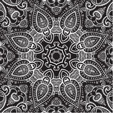 Lace background. White on black. Mandala. Royalty Free Stock Photos