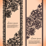 Lace Banners Stock Image