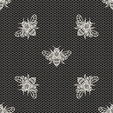 Lace with bees Royalty Free Stock Images