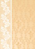 Lace Beige. Lace roses on a beige background Royalty Free Stock Photos
