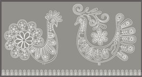 Lace birds card 2 Royalty Free Stock Photos
