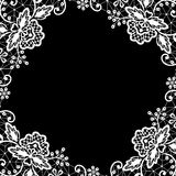 Lace on black background Stock Photos