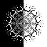 Lace black ethnic ornament drawn coal Royalty Free Stock Photos