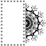 Lace black ethnic ornament drawn coal Stock Photography
