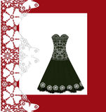 Lace black long dress Royalty Free Stock Photography