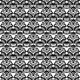 Lace black seamless mesh pattern. Vector illustration Stock Photos
