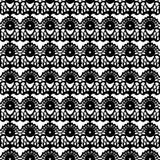 Lace black seamless mesh pattern. Vector illustration Stock Image