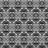 Lace black seamless mesh pattern. Vector illustration Royalty Free Stock Image