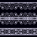 Lace on black Stock Photos