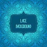 Lace blue background Royalty Free Stock Photos
