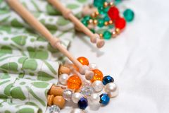 Lace bobbins Stock Photos