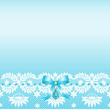 Lace border with bow Stock Image