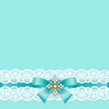 Lace border with bow Royalty Free Stock Images