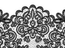 Lace border on green background Royalty Free Stock Photos