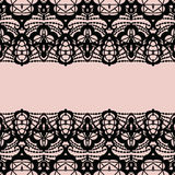 Lace border. Invitation card. Stock Image