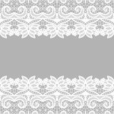 Lace border. Invitation card. Stock Photos