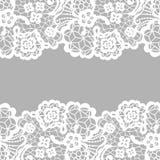 Lace border. Invitation card. Royalty Free Stock Photos