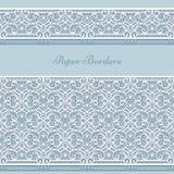 Lace border ornaments, cutout paper decoration Stock Photos