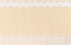 Lace border. Over Canvas texture design for background stock images