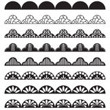 Lace border pattern brush for hem decoration. Stock Images