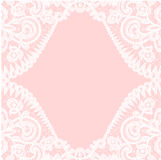 Lace border on pink background Stock Images