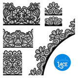 Lace Border Set Royalty Free Stock Photography