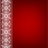 Lace border with snowflakes Stock Photo