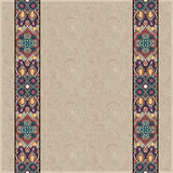 Lace border stripe in ornate floral background, Royalty Free Stock Photography