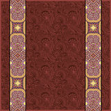 Lace border stripe in ornate floral background, Royalty Free Stock Images