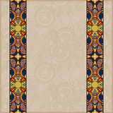 Lace border stripe in ornate floral background Royalty Free Stock Image