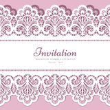 Lace border template Stock Photography