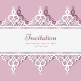 Lace border template Royalty Free Stock Images