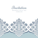 Lace border template Royalty Free Stock Image