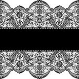 Lace border. Template for wedding, invitation or greeting card with lace border Royalty Free Stock Photos