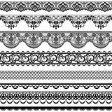 Lace Borders Stock Photography