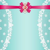Lace borders with bow Royalty Free Stock Photo