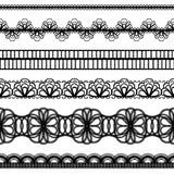 Lace borders. design elements Stock Image