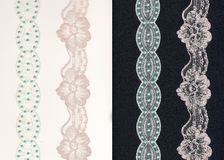Lace Borders On B/w Background Stock Image