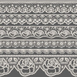 Lace borders. Set of seamless lace borders Stock Image
