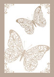 Lace butterflies Royalty Free Stock Image