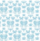 Lace Butterflies - seamless pattern. stock illustration
