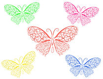 Lace butterfly Stock Photo